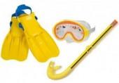 Potápěčské brýle, šnorchly a ploutve