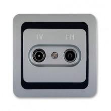 ELEKTROBOCK VENUS zásuvka TV+FM koncová, hliník/modrá/hliník 026727