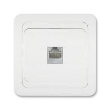 ELEKTROBOCK VENUS zásuvka datová, sl. kost/nikl/sloní kost 027124