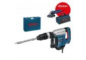 BOSCH GSH 5 CE Professional Sekací kladivo + GWS 9-125 + taška na nářadí 0.615.990.J9A