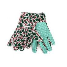 VETRO-PLUS Rukavice zahradní dámské, tečky na dlani 076301LGG