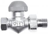 """HERZ TS-98-VHF-Termostatický ventil M30x1,5 přímý 1/2"""", šedá krytka 1762321"""