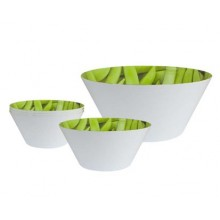 VETRO-PLUS 5d sada melaminových salátových misek Peas 12HK20505P