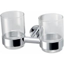 SAPHO CIRCLE 1320-05 Dvojitý držák skleniček, chrom