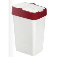 HEIDRUN odpadkový koš PUSH & UP 18l, bílá/červená 1340