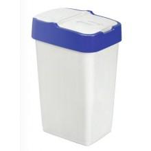 HEIDRUN odpadkový koš PUSH & UP 35l, bílá/modrá 1342