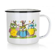 BANQUET Hrnek s dětským motivem OWLS, smaltovaný 13EM08OWL