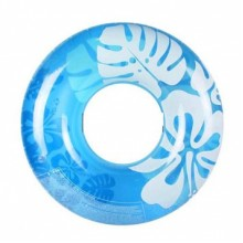 INTEX Clear Color Tubes nafukovací kruh, modrý 59251NP