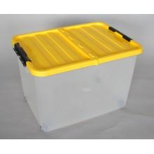 HEIDRUN Box úložný pojízdný 34 x 52 x 36,5 cm, 45 l, červená 1610c