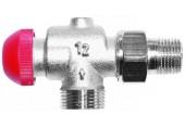 """HERZ TS-90-V-Termostatický ventil axiální 1/2"""", M 28 x 1,5 červená krytka 1772867"""