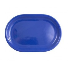 VETRO-PLUS Talíř ovál modrý 35,5cm 202783428PL