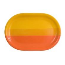 BANQUET Talíř ovál oranžovo/žlutý 35,5cm 202783OY