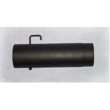 Trubka kouřovodu s klapkou 145mm/500mm (1,5) černá