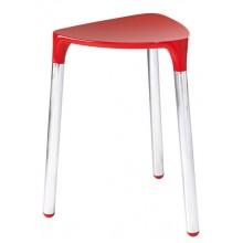 SAPHO YANNIS 217206 koupelnová stolička 37x43,5x32,3 cm, červená