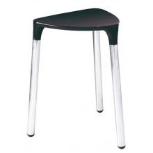 SAPHO YANNIS 217214 koupelnová stolička 37x43,5x32,3 cm, černá