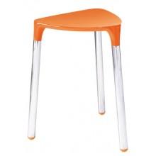 SAPHO YANNIS 217267 koupelnová stolička 37x43,5x32,3 cm, oranžová