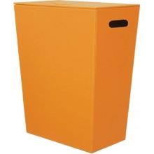 SAPHO Koh-i-noor 2463OR ECO PELLE koš na prádlo 47x30x60cm, oranžová