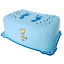 AQUALINE Dětské protiskluzové stupátko do koupelny Žirafa, modrá 2526