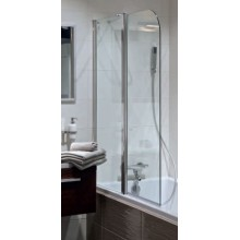 Jika CUBITO dvojdílná vanová zástěna 115x140cm levá transparentní sklo H2564260026681