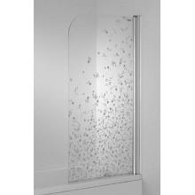 Jika CUBITO jednodílná vanová zástěna 75x140cm pravá květinový dekor H2564250026691