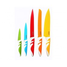 BANQUET 5 dílná sada nožů s nepřilnavým povrchem, Symbio New Colore 25LI008105C-A