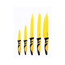 BANQUET 5 dílná sada nožů s nepřilnavým povrchem, Symbio New Giallo 25LI008105G-A