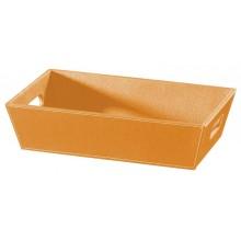 SAPHO Koh-i-noor 2604OR ECO PELLE odkládací miska 43x26x11cm, oranžová