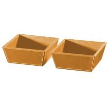 SAPHO Koh-i-noor 2605OR ECO PELLE odkladací misky 2ks 19,6x19,6x8cm, oranžová