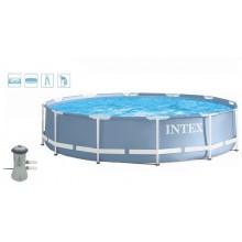 INTEX PRISM FRAME POOL SET Bazén 457 x 107 cm s kartušovou filtrací, 28734NP
