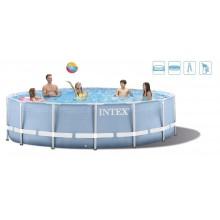 INTEX PRISM FRAME POOL SET Bazén 457 x 122 cm s kartušovou filtrací, 28736NP