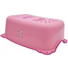 AQUALINE Dětské protiskluzové stupátko do koupelny Zebra, růžová, 3196