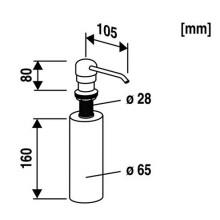 ABUSANITAIR dávkovač mýdla pro Abu multiset 36304000099