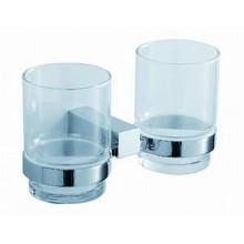 Jika CUBITO Dvojitý držák se skleněnými pohárky, chrom 3.8473.4.004.000.1