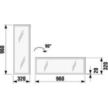 Jika CUBITO Zrcadlo 32x96cm horizontální/vertikální 4.4011.1.172.570.1