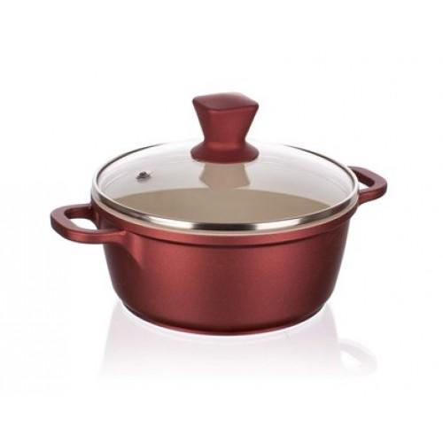 BANQUET Hrnec s poklicí 16x7,5 cm a silikonovým knobem Gourmet Ceramia 40SB16A