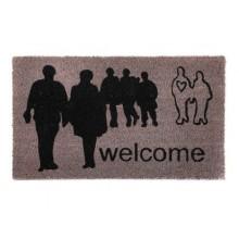 VETRO-PLUS Rohož kokosová 43 x 73 cm, šedá People ''Welcome'' 43570231