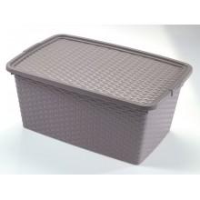 HEIDRUN RATTAN box s víkem, 22 x 43 x 32 cm, 20l, 4511