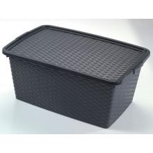 HEIDRUN RATTAN box s víkem, 26 x 59 x 39 cm, 40l, 4512