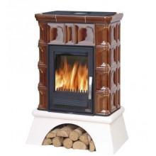 ABX Britania K TV výměník 6,9 kW, kachlová kamna na dřevo (litina/plech), hnědá