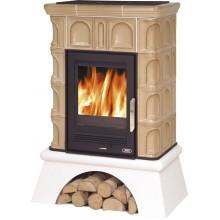 ABX Britania K, kachlová kamna na dřevo s kombi vložkou (litina/plech), tabak