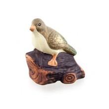 VETRO-PLUS Zvířátka terakotová pták na dřívku 47HC107289