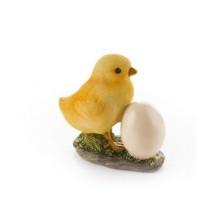 VETRO-PLUS Kuřátko s vajíčkem polyresin 47HCKDWQ1246