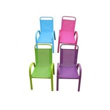 HAPPY GREEN Dětská zahradní židle stohovatelná, modrá 50XT2930A