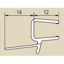 RONAL Vodorovné obloukové těsnění pro 8 mm skla, pár 51502