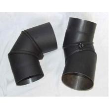 Koleno kouřovodu, přestavitelné 130mm 0-90° (1,5) černá