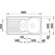 VÝPRODEJ BLANCO Tipo 6 S Basic dřez nerezový R__517153 PROMÁČKLÝ, ŠKRÁBANCE, OHNUTÁ HRANA