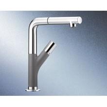 BLANCO Yovis-S dřezová baterie se sprchou, hliníková metalíza 518293