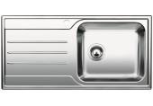 VÝPRODEJ BLANCO MEDIAN XL 6S - IF nerezový dřez pravý, sifón komplet RRR518489 PROMÁČKLÝ, OHLÁ HRANA bez sifonů, excentru!!!