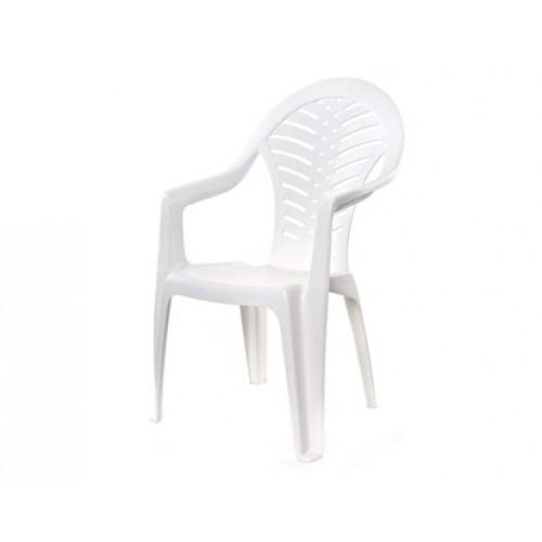 HAPPY GREEN Židle plastová bílá 51OCEANW
