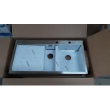 VÝPRODEJ Franke Planar PPX 211/611 /7 TL, 1000x512 mm, nerezový dřez levý + sifon 127.0203.46 OHLÉ ROHY
